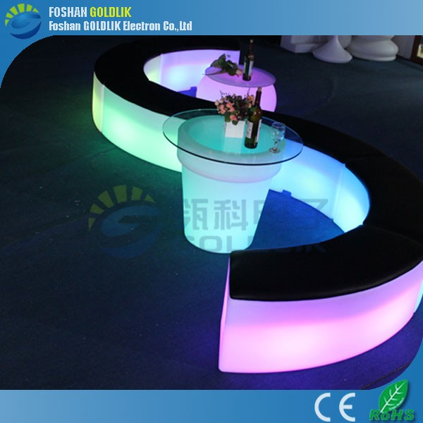 Modern Outdoor Lighting Furniture / Glowing LED Bar Furniture / Modern Outdoor Led Furniture