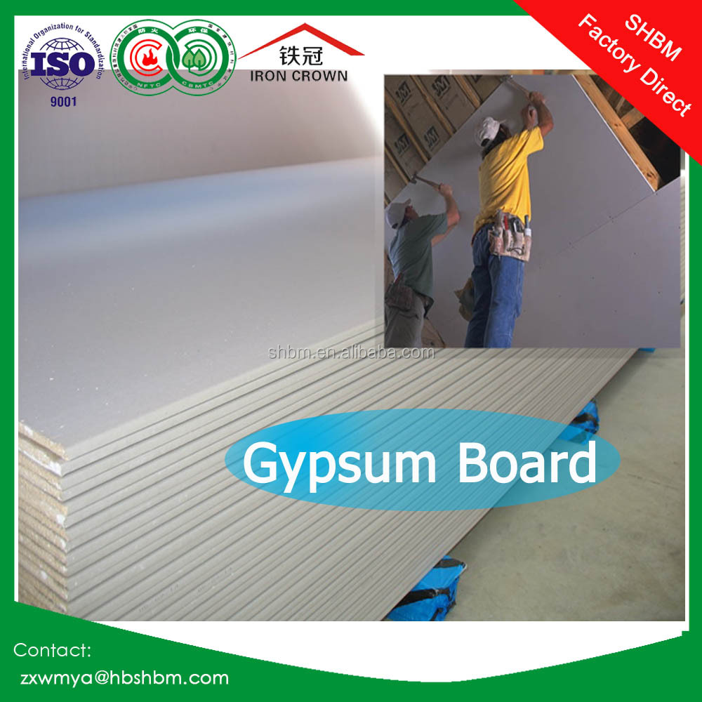 Cheap price Waterproof Gypsum Board/ Paper Faced Partition Panel Gypsum Board