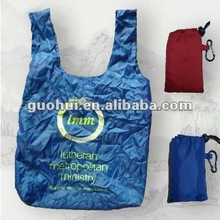 Foldable Nylon t-shirt shopping bag