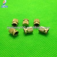 China manufacturing Brass Inserts Blind Cross Knurled
