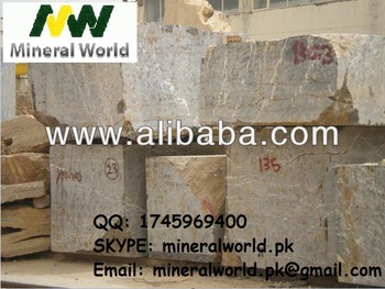 Black and Gold Marble Blocks from Pakistan