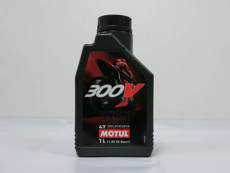 Racing Motorcycle Lubricant Motul 300V 4T Factory Line 10W-40