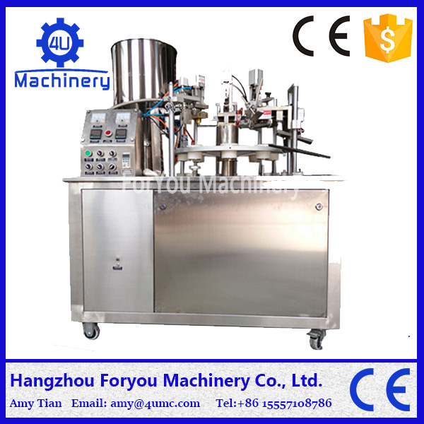 semi-automatic cosmetic tube fill seal machine