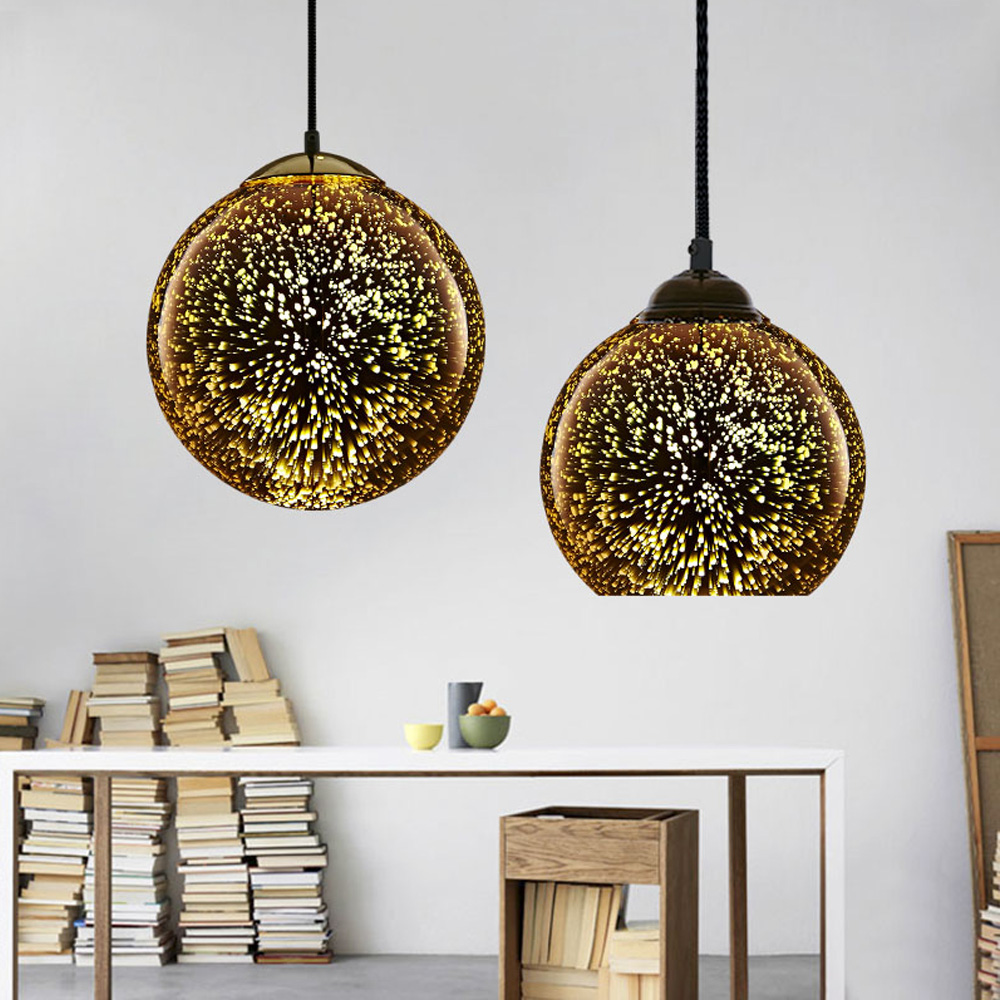 Customized glass material ball shape wholesale lamp shades