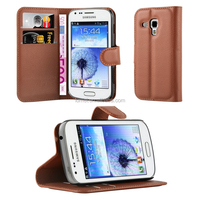 Lichee Pattern Wallet Leather Flip Cellphone Case Cover For Samsung Galaxy Trend Duos