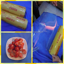 plastic wrap 9-15micron pvc cling film fresh stretch film for food packing