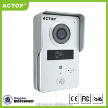 2015 new ip video door station with door opening supports two way intercom and remotely unlock door