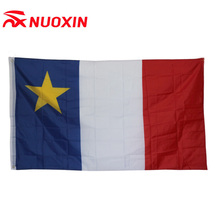 Nuoxin 3x5 75D polyester custom all countries flags with star