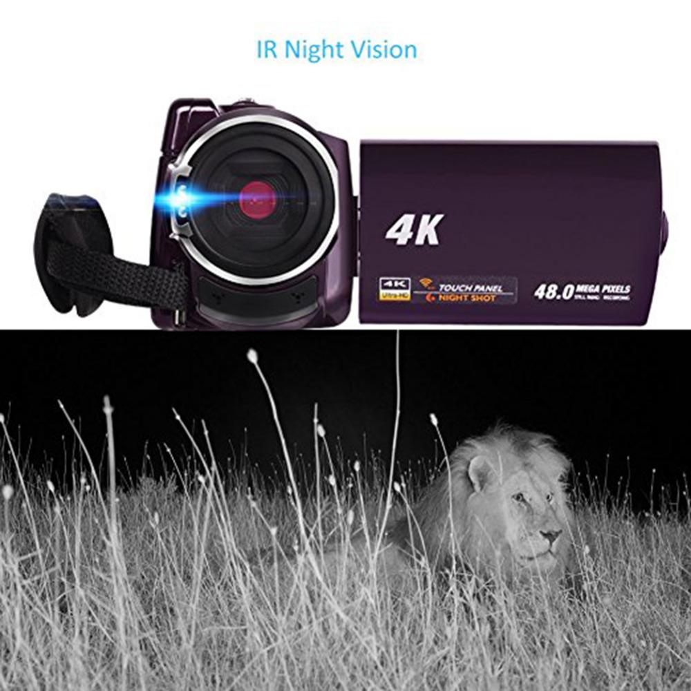 Высокое качество 4 к видеокамера-Регистратор видеокамеры Ultra HD цифровой Камера s и DI0085600 (4)