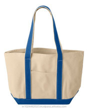 Durable Natural color Canvas Bag with pocket