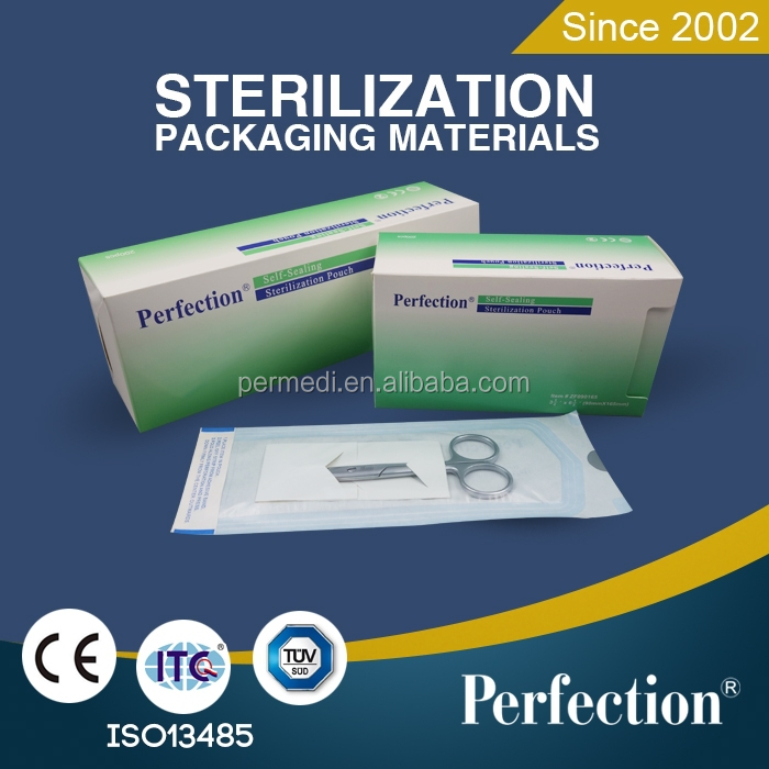 medical autoclave ISO 60g dialyzed paper self-sealing pouces