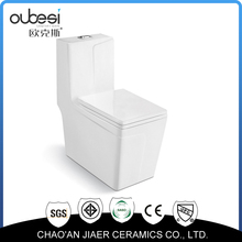 Modern design sanitary wares s-trap siphonic one-piece toilets