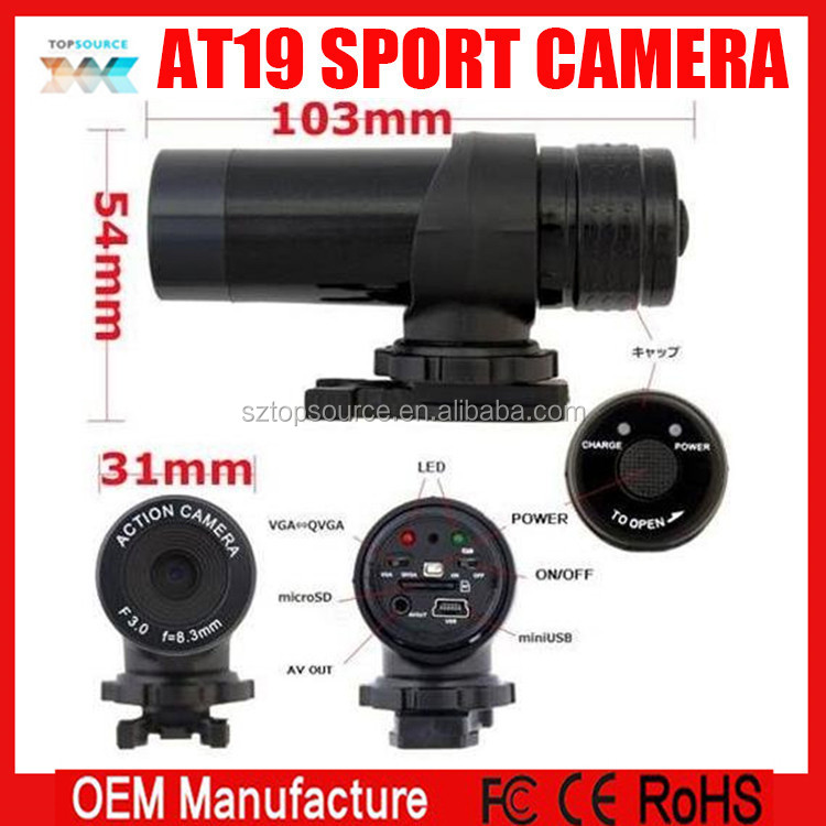 HD Remote control camshot sport camera at19 camshot sport camera at19