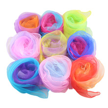 50cm*60cm Lustre Yarn Graduated Colors Organza Juggle Scarf