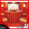 2015High Quality Best Sale Round Cheap Polyester Fancy red fabirc Wedding Table Cloth and Chair Cover