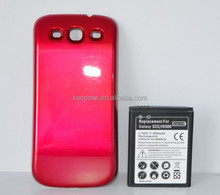 Wholesale 3.7v Rechargeable High Capacity 4500mAh External Phone Battery+Back Cover Case For Samsung Galaxy S III S3 I9300