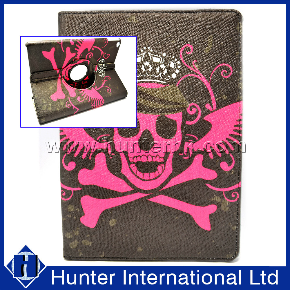 Skull Rotating Function Tablet Case For iPad Air 2