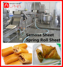 Full automatic small frozen vegetable lumpia spring roll pastry sheet making machine