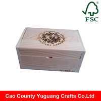 Eco-friendly handmade book shape essential oil wood box