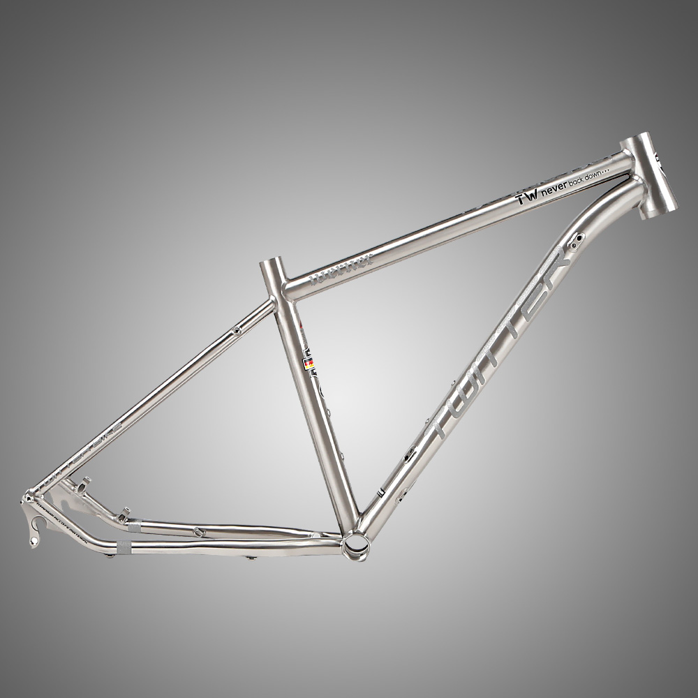 27.5 Titanium alloy MTB frame with reflecting function