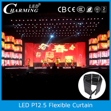 high brightness soft flexible led video curtain flexible led display screen video