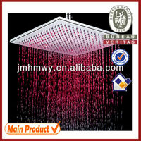 Bahtoom Top 16 inch square rainfall hydro power led outdoor shower head