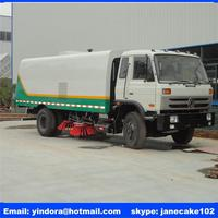 Hot sale 16 ton stainless steel dust box tanker washing road cleaning vacuum street sweeper