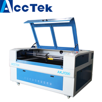 2018 ACCTEK China hot sale cnc laser 900*1300mm with ball screw transmission blade table non metal laser cutting machine
