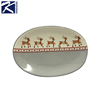 Kinsheng design Eco-Friendly christmas ceramic candy plate home