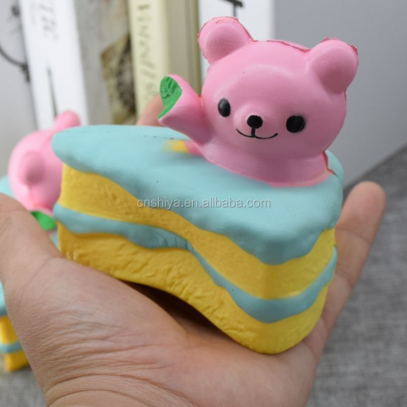 Taobao lovely ball soft cake/bread/fruit/emoji squishy bun,bear triangle cake squishy squeeze