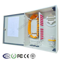FTTH cable connecting fiber optic distribution set top box wall mount