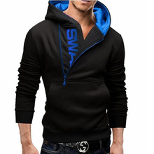 Mens Fashion Clothing Half Zipper Cotton Blank High Quality Hoodies Wholesale Black Slim Fit Pullover Hoodie