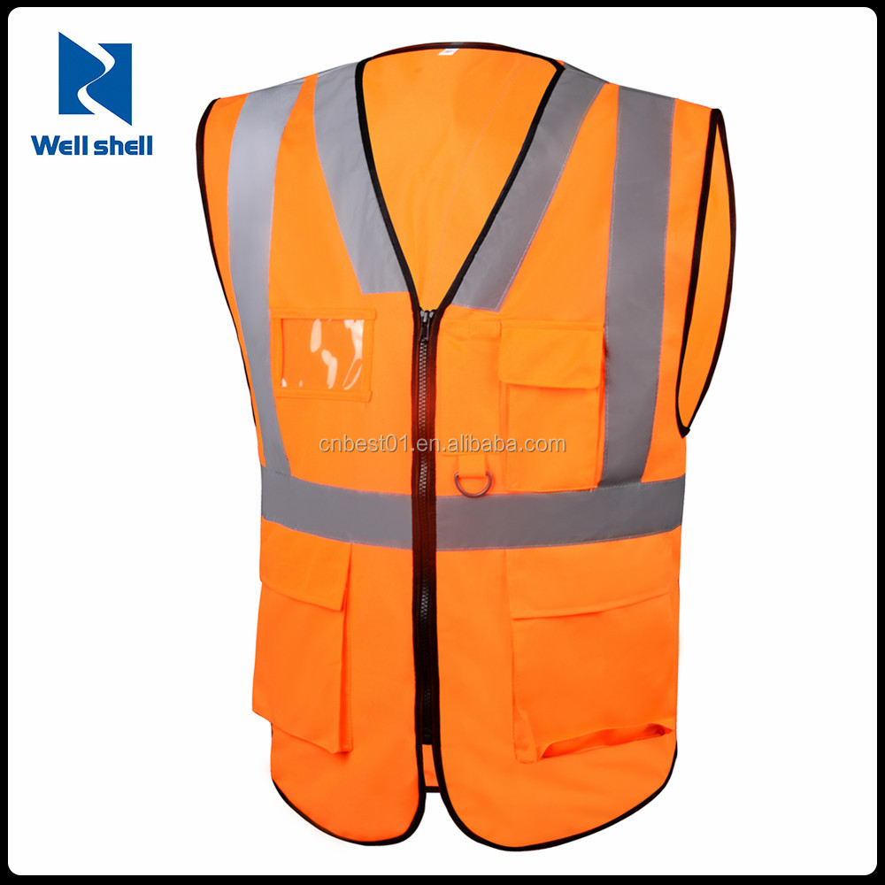 Vest for Men suit safety equipments High Visibility Safety Security Guard Reflective Construction security guard vest