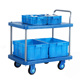 factory price heavy duty industrial warehouse logistics picking hand push cart steel platform trolley with 2 layers