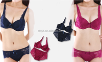 hot sell sexy girl lace push up bra&brief sets underwear/lingerie/intimate