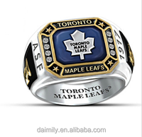 Toronto maple leafs personalized men's ring stainless steel ring factory price