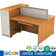 New design KD structure office furniture two people office workstation