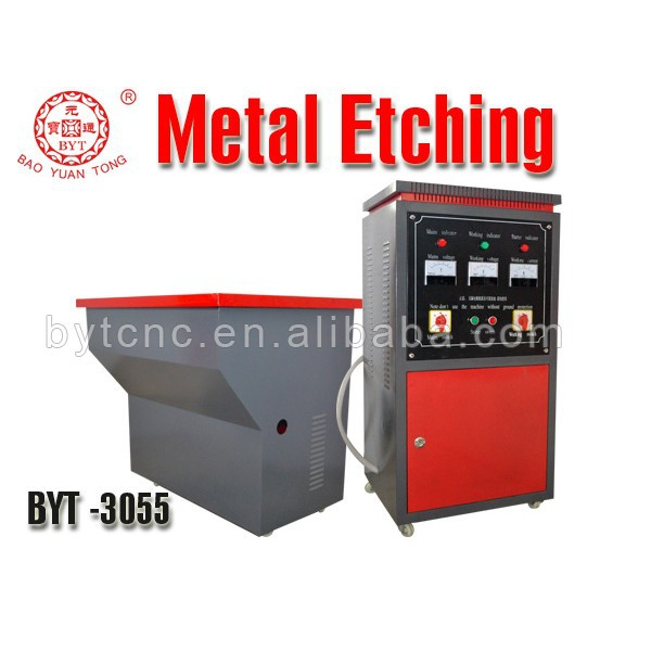 BYT chemical etching machine signage Metal Etching Machine