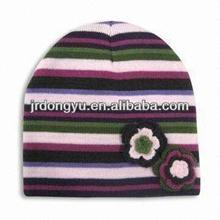 cheap children knit hat with flower