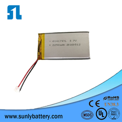 SL614174 li polymer battery 3.7V 2250mAh rechargeable battery for GPS