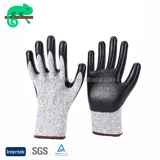 RAMSAFETY china nitrile impregnated fabric gauntlet style safety fencing gloves