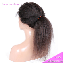 Drop Shipping Natural Color 100% Human Hair 360 Frontal With Open Cap Brazilian Remy Kinky Straight 360 Lace Frontal Closure