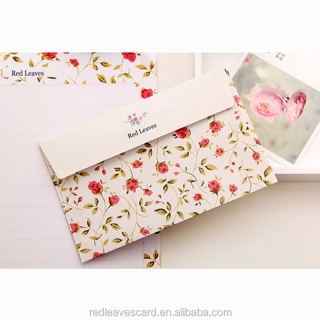 Colorful wedding pocket envelope customized printing wholesale envelope write letters for friends