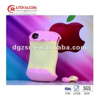 Apple Shape Silicon cover case for Iphone 4