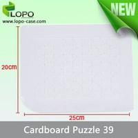 make you own personalized DIY build my world cardbord puzzle jigsaw for Sublimation