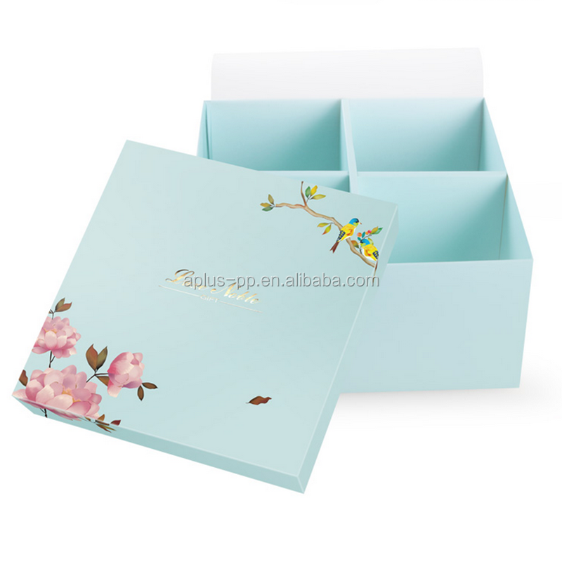 20.5x20.5x10cm Latest Hot Selling Novel Design Printed Gift Boxes Packing Box Carton