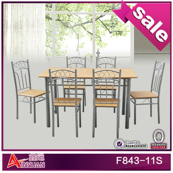 F843-11S Elegant cheap 7 piece dining room sets