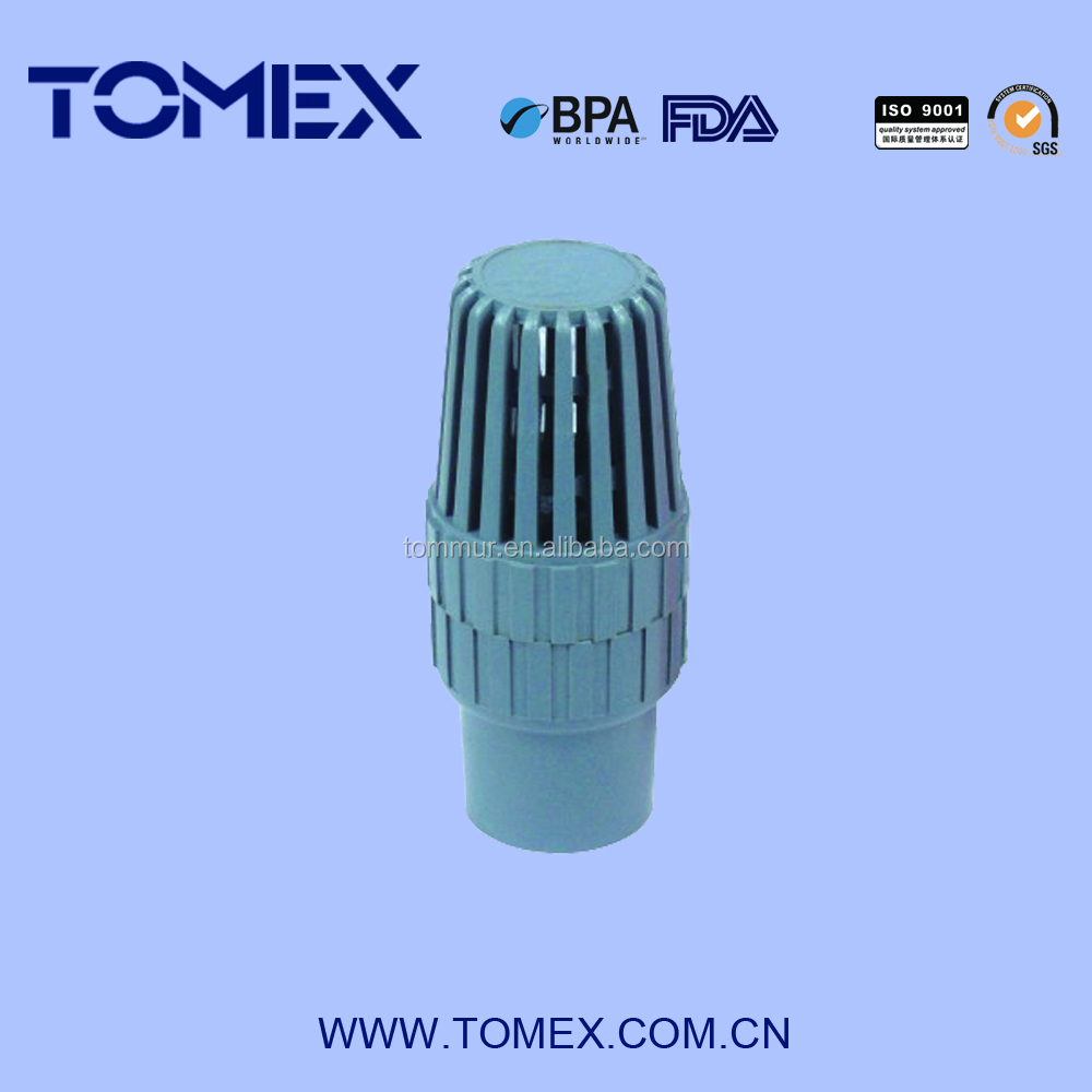 2015 made in China cheap plastic pvc foot valve dn20
