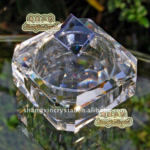 asscher crystal jewelry trinket box