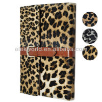 Luxury Briefcase Style Leopard Pattern Leather Case with Holder for ipad mini